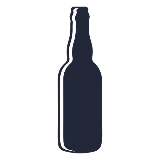 Long neck beer bottle silhouette Transparent PNG