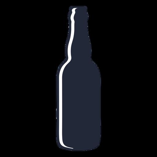 Long neck beer bottle silhouette