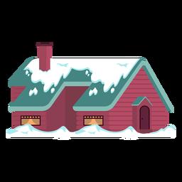 Casa larga nevada