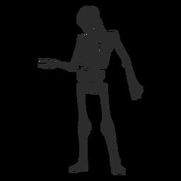 Mirando la silueta del esqueleto del brazo