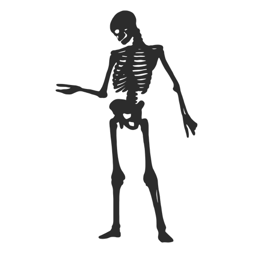 Looking at arm skeleton silhouette Transparent PNG