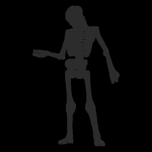 Looking at arm skeleton silhouette