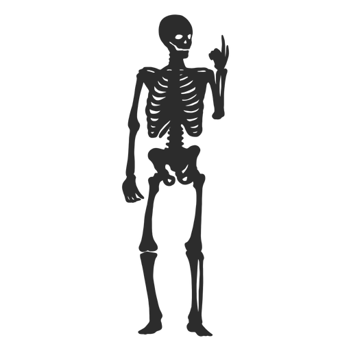 Looking at fingers skeleton silhouette Transparent PNG