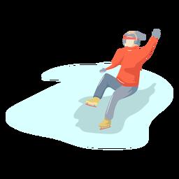 Patinação no gelo de homem