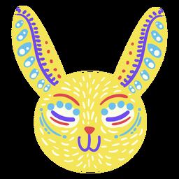 Escultura folclórica de coelho mexicano