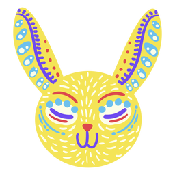 Mexican bunny folk sculpture