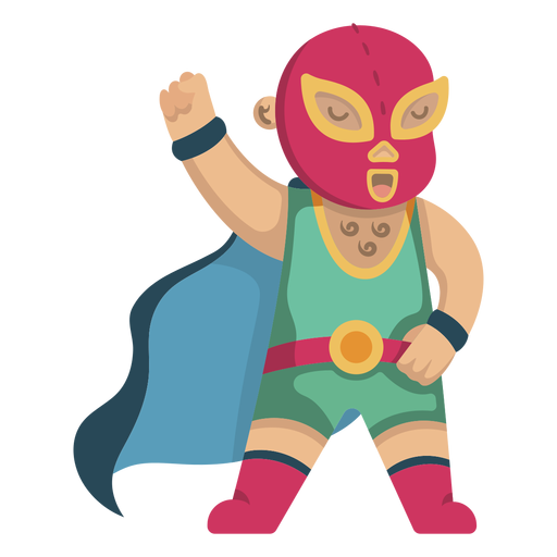 Mexican fighter cute Transparent PNG