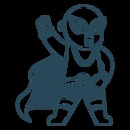 Luchador mexicano con capa