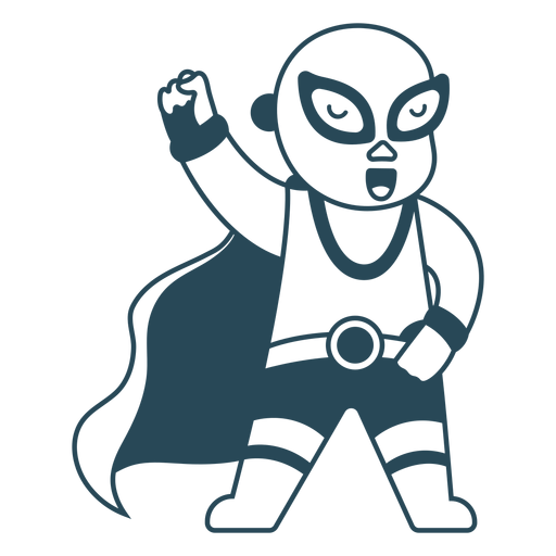 Mexican fighter with cape