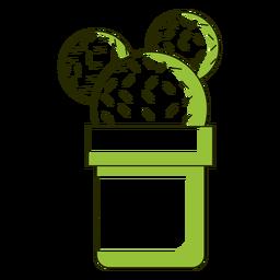 Ilustración de cactus de orejas de mickey