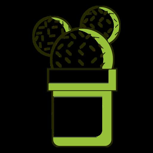 Ilustración de cactus de orejas de Mickey Transparent PNG