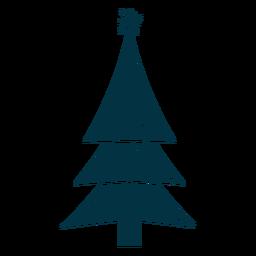 Bonito árbol de navidad abstracto