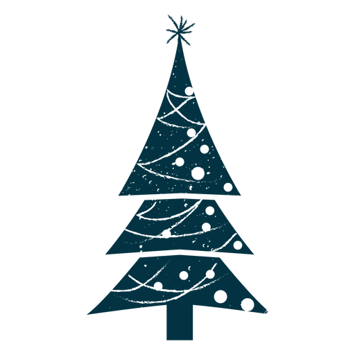 Nice abstract christmas tree Transparent PNG