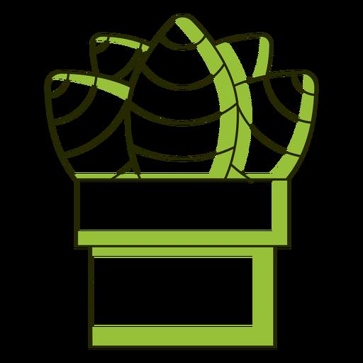 Bonita ilustración de tono dúo de cactus