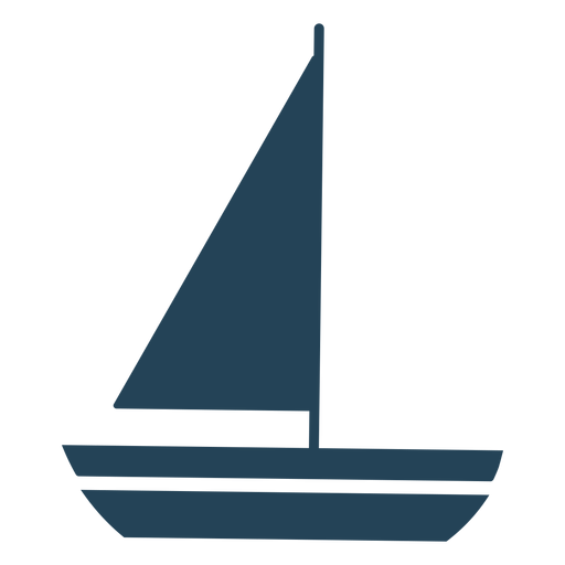 Nice vector sailboat Transparent PNG