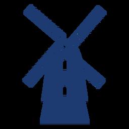 Molino de viento agradable vector
