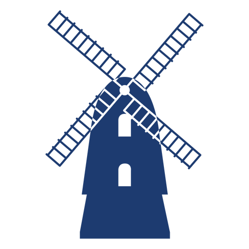 Nice vector windmill Transparent PNG