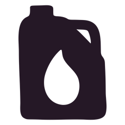Oil container silhouette