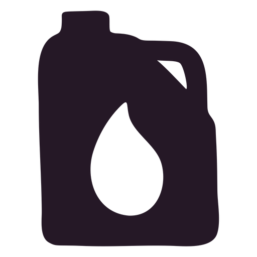Oil container silhouette Transparent PNG