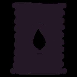 Contenedor de silueta de aceite