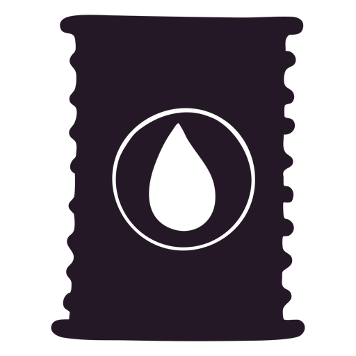 Oil silhouette container Transparent PNG
