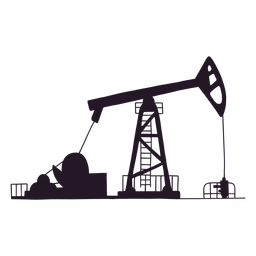 Oil site silhouette