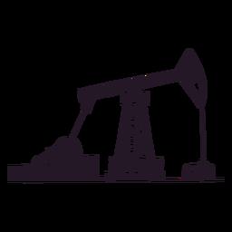Silueta del sitio petrolero