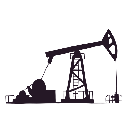 Oil site silhouette Transparent PNG