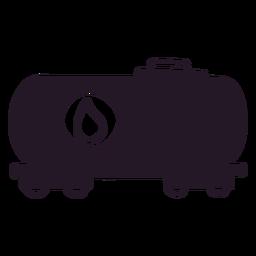 Oil truck silhouette