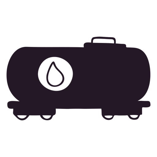 Oil truck silhouette Transparent PNG