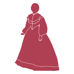 Silueta femenina de la vieja era