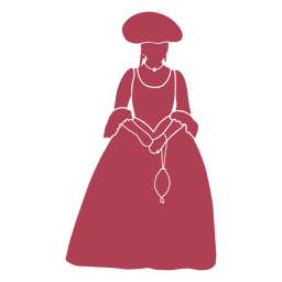 Old time female silhouette
