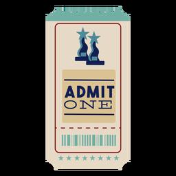 One cinema ticket