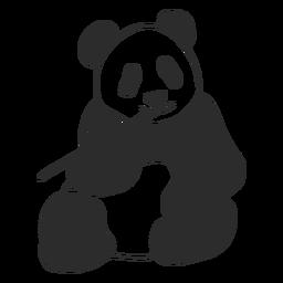 Panda chewing vector
