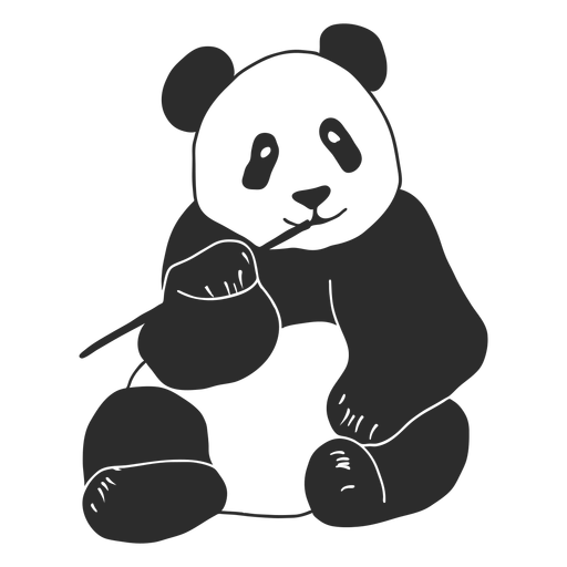 Panda masticando vector