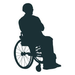 Persona discapacitada silueta