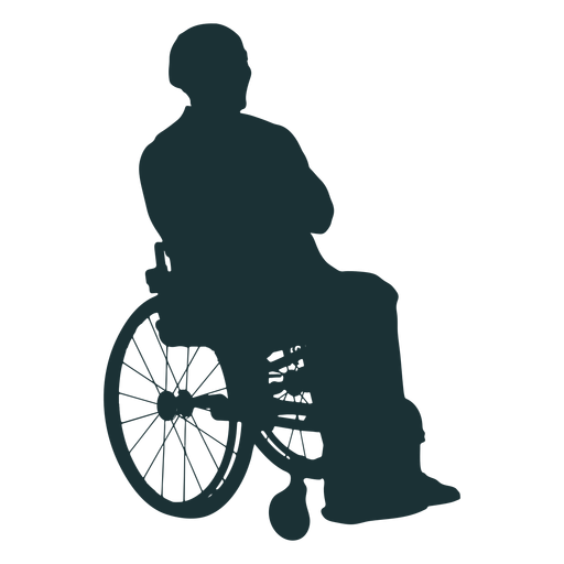 Person disabled silhouette Transparent PNG