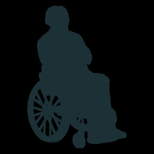 Persona discapacitada silueta Transparent PNG