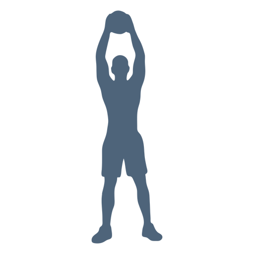 Person raised ball silhouette Transparent PNG