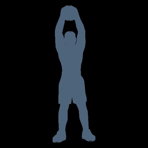 Persona levantada silueta de bola