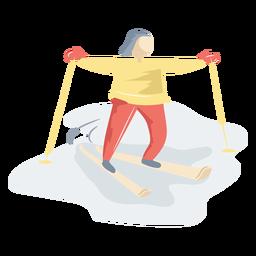 Persona esquiando hielo
