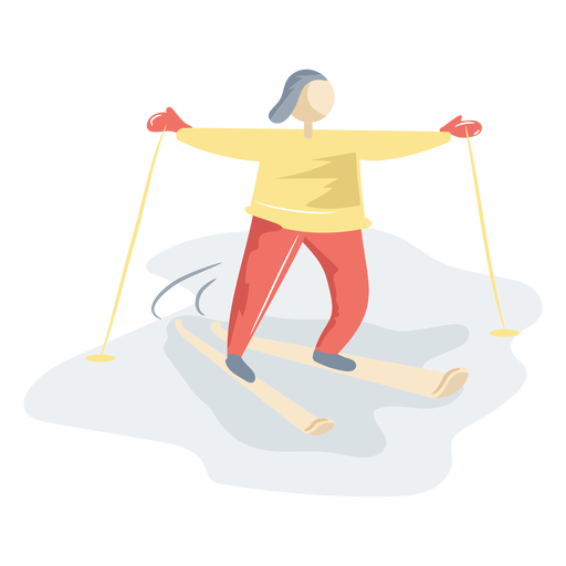 Persona esquiando hielo Transparent PNG