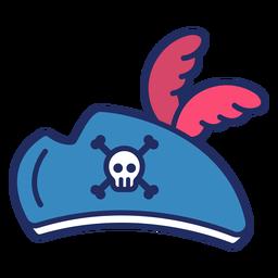 Sombrero pirata plano