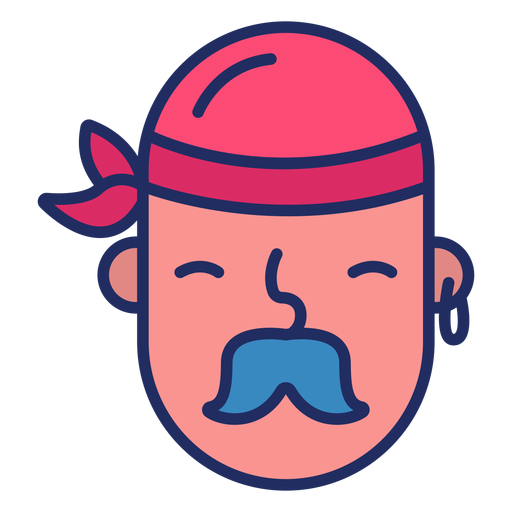 Pirate head cute Transparent PNG