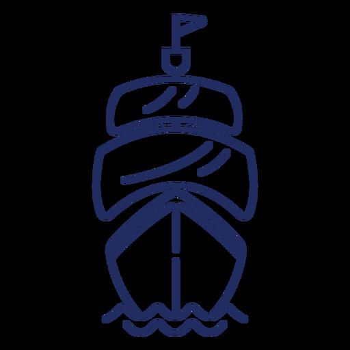 Pirate ship stroke Transparent PNG