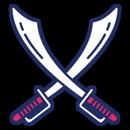 Espadas de pirata planas