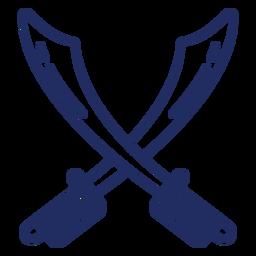 Golpe de espadas piratas