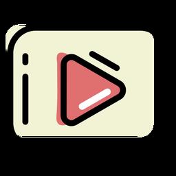 Trazo de color del botón de reproducción