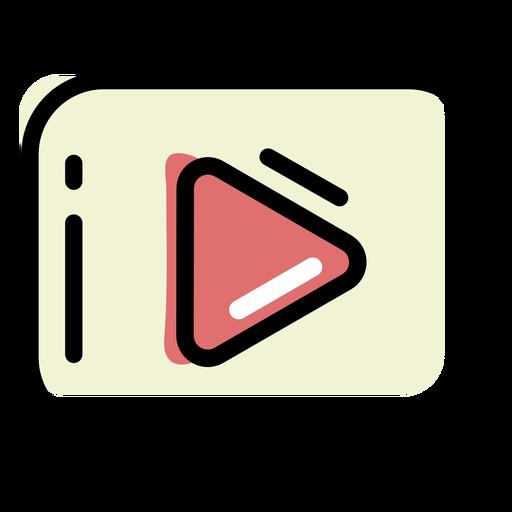 Play button color stroke