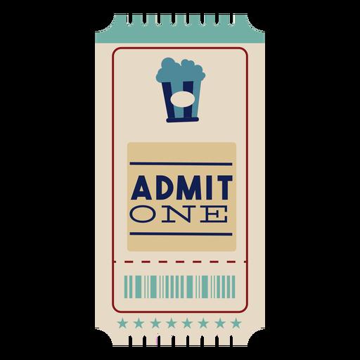 Boleto de cine de palomitas de maíz Transparent PNG